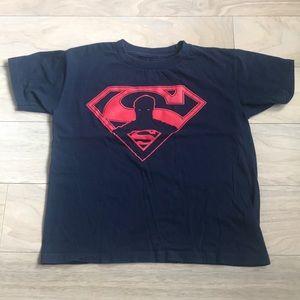 Boys Navy Blue Superman T Shirt Size Ages  7